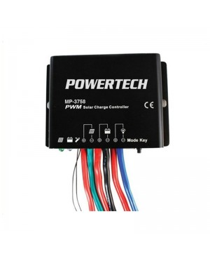 Digitech 12/24V 20A PWM Solar Charge Controller,Timer Function IP67 MP3758