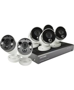 Concord 8 Ch 4K NVR Package,4xPIR IP Cameras,2xPIR Floodlight Cam CNK8868PFA-A