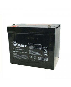 DiaMec 12V 75Ah AGM Deep Cycle Battery DMD12-75 SB1680