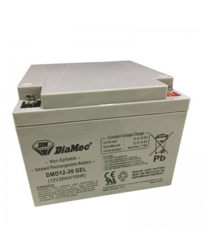 DiaMec SLA Deep-Cycle Gel Battery, 26Ah DMD12-26 GEL SB1698