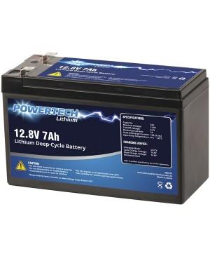 Powertech 12.8V 7Ah Lithium Deep Cycle Battery SB2210