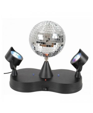 Rotating Disco Ball, LED Spotlights