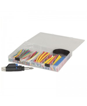 161 Piece Heatshrink Pack, Gas Powered Heat Blower