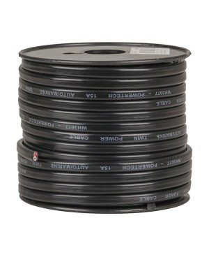 Powertech 30m Roll 15A Twin Core Power Cable WH3077