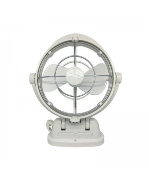 Sirocco 12-24VDC Gimbal Fan 178mm Three Speed White