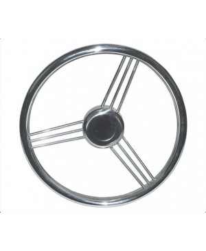 9 Spoke Stainless Steel Steering Wheel, 345mm