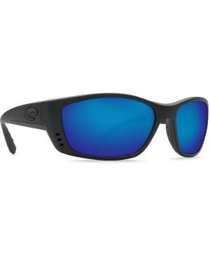 Costa Fisch Sunglasses, Black Frame, 580G Blue Mirror Lens FS 11 OBMGLP