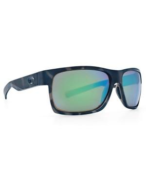 Costa Half Moon Sunglasses, Shark Frame, 580G Green Mirror Lens HFM 140 OGMGLP