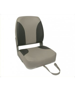 High Back Folding Seat, Blue/White or Grey/Charcoal