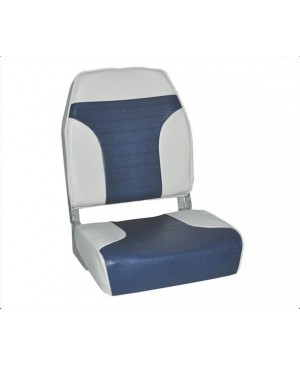 Deluxe Hi Back Seat, Blue/White