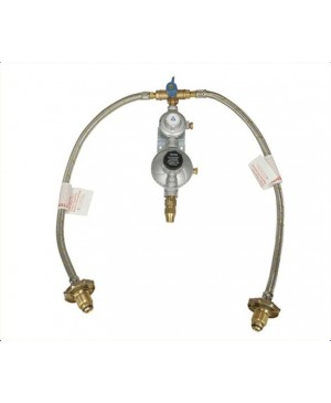 Gas Regulator Kit, Two Bottles,Dual Stage Regulator,Hose RGC420
