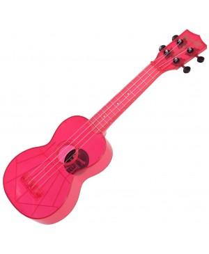 Kala Soprano Waterman Ukulele,Fluorescent Pink MK-SWF/PK
